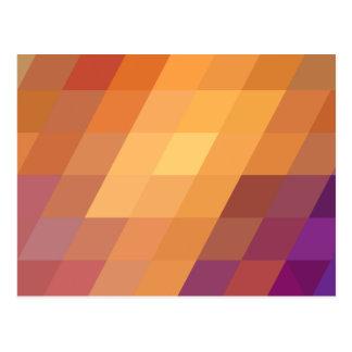 Paralelogramos geométricos del naranja de los postal