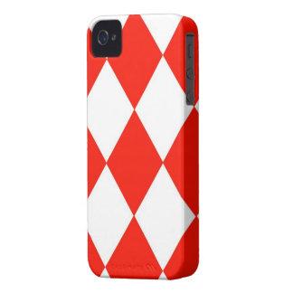 paralelogramos Rojo-Blancos del caso del iPhone 4/ iPhone 4 Case-Mate Protector