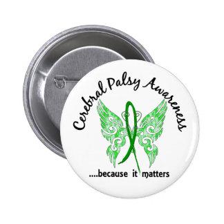 Parálisis cerebral de la mariposa 6,1 del tatuaje  pin