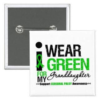 Parálisis cerebral llevo a la nieta verde de la pin cuadrado