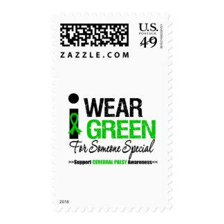 Parálisis cerebral llevo el verde para alguien sello