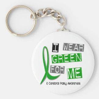 Parálisis cerebral llevo el verde para MÍ 37 Llavero Redondo Tipo Pin