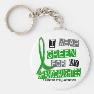 Parálisis cerebral llevo el verde para mi nieta 3 llavero redondo tipo pin