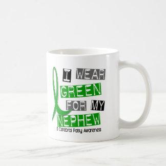 Parálisis cerebral llevo el verde para mi sobrino  taza básica blanca