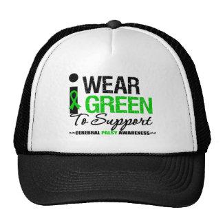 Parálisis cerebral llevo la cinta verde para la gorras de camionero