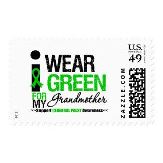 Parálisis cerebral llevo la cinta verde para la sellos
