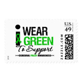 Parálisis cerebral llevo la cinta verde para la sello