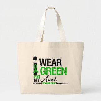 Parálisis cerebral llevo la cinta verde para mi tí bolsa de mano