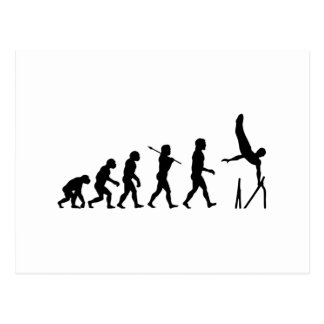 Parallel Bars Gymnastics Evolution Postcard