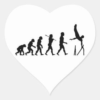 Parallel Bars Gymnastics Evolution Heart Sticker