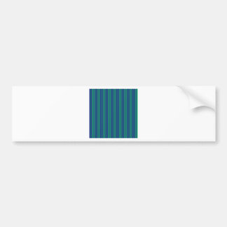 parallel lines abstract pattern green blue stripes bumper sticker