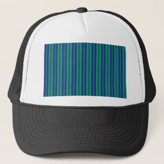 parallel lines abstract pattern green blue stripes trucker hat
