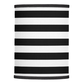 Parallel Lines, Pattern Of Stripes - White Black Lamp Shade