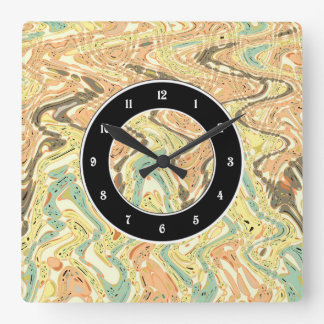 Parallel paths square wall clock