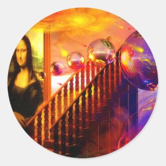 Parallel universe classic round sticker