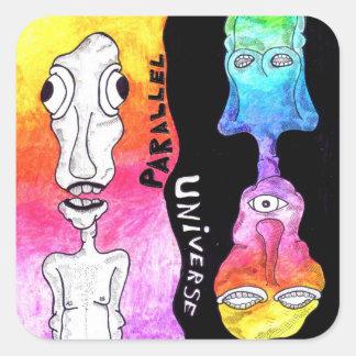 Parallel Universe Square Sticker