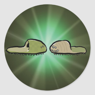 paramecium classic round sticker