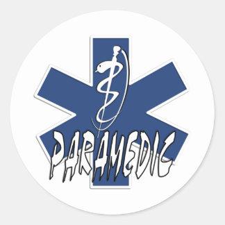 Paramedic Action Classic Round Sticker