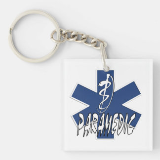 Paramedic Action Acrylic Key Chain