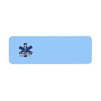 Paramedic Action Custom Return Address Label