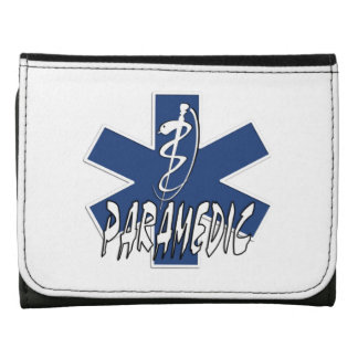 Paramedic Action Leather Trifold Wallets