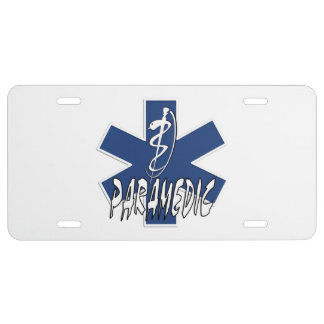 Paramedic Action License Plate