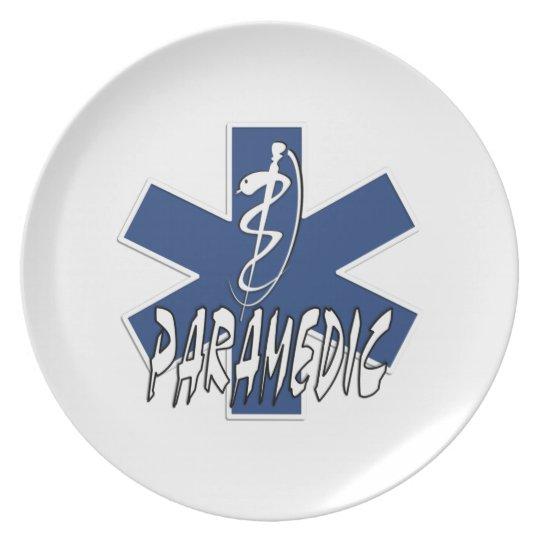 Paramedic Action Melamine Plate
