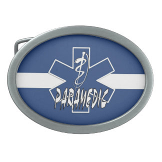Paramedic Action Oval Belt Buckle