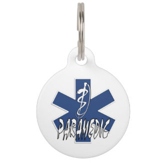 Paramedic Action Pet Name Tag