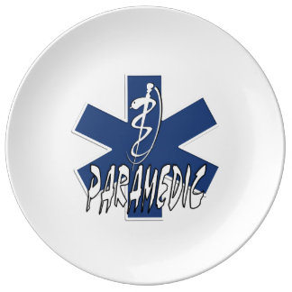 Paramedic Action Porcelain Plates