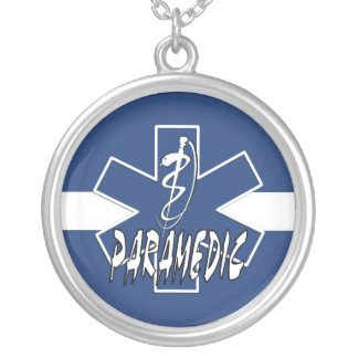 Paramedic Action Round Pendant Necklace
