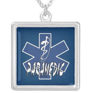 Paramedic Action Square Pendant Necklace
