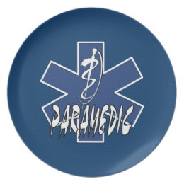 Paramedic Active Star Of Life Dinner Plate
