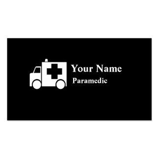 Paramedic ambulance customizable business cards