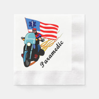 Paramedic Bikers Disposable Napkin