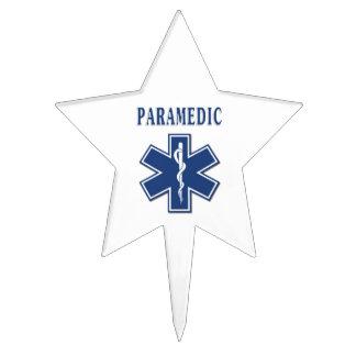 Paramedic Blue Star of Life Cake Topper
