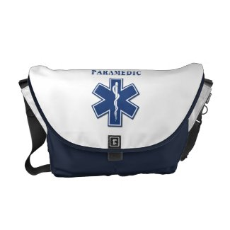 Paramedic Blue Star of Life Messenger Bag