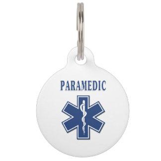 Paramedic Blue Star of Life Pet Tag