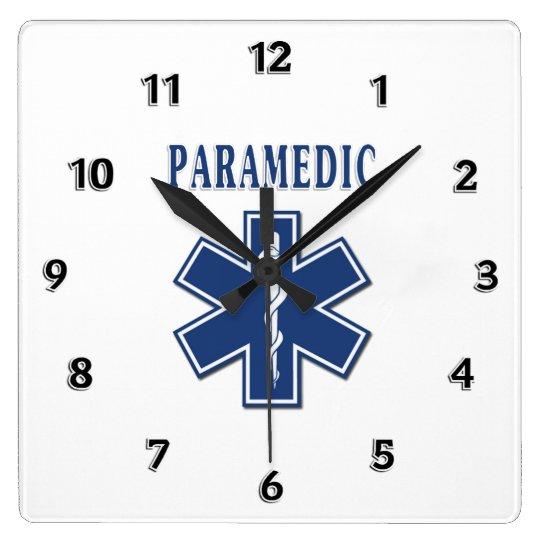 Paramedic Blue Star of Life Square Wall Clock