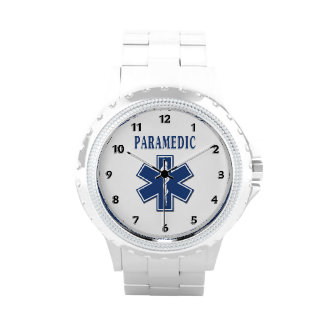 Paramedic Blue Star of Life Wristwatches