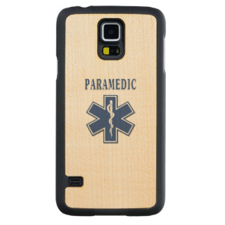 Paramedic Blue Star of Life Carved® Maple Galaxy S5 Slim Case