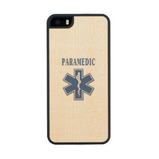 Paramedic Blue Star of Life Carved® Maple iPhone 5 Case