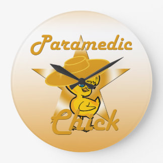 Paramedic Chick #10 Large Clock