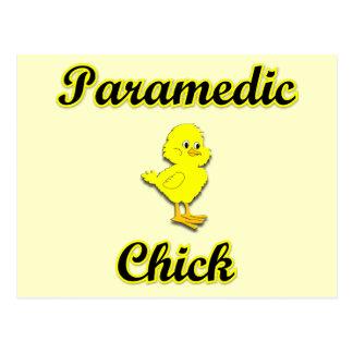 Paramedic Chick Postcard