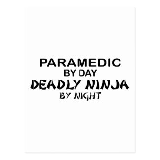 Paramedic Deadly Ninja by Night Post Card