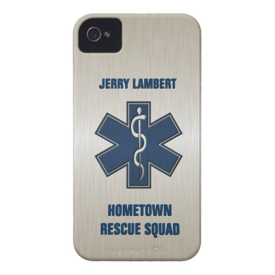 Paramedic Deluxe Name Template iPhone 4 Cover