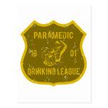 Paramedic Drinking League Postcard