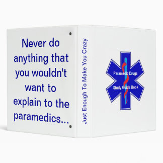 Paramedic Drugs Study Guide Book Binder