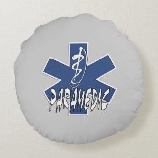 Paramedic EMS Action Round Pillow