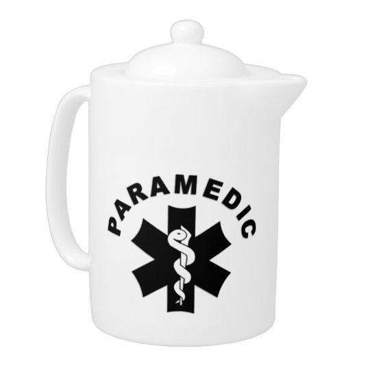 Paramedic EMS Logo Teapot